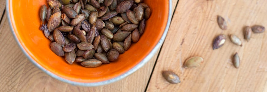soy roasted pumpkin seeds recipe by Angela Langford